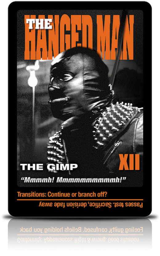 A Tarot of the Gimp from Pulp Fiction: Evidence of the Villains' Depravity