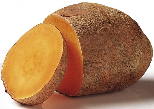 Sliced raw sweet potato: Image Credit: Wikipedia
