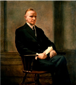 Calvin Coolidge - 30th President of the United States whose tax cut policies led to an economic boom in the 1920s