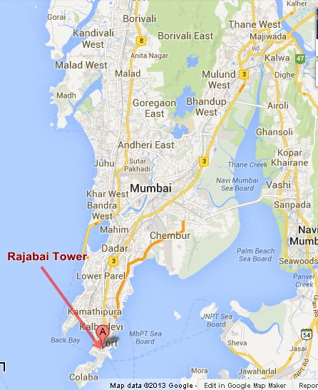 South Mumbai Map