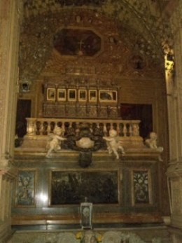 St.Francis  Xavier Tomb where his body  mummified body is kept.