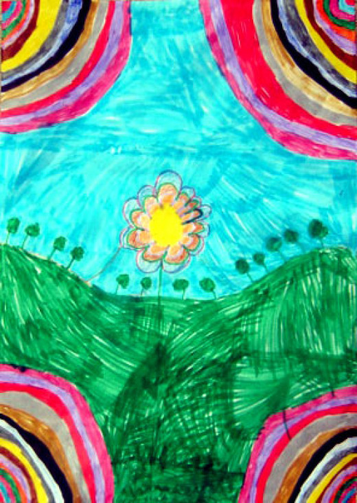 Art Nouveau? No, just a child's painting.