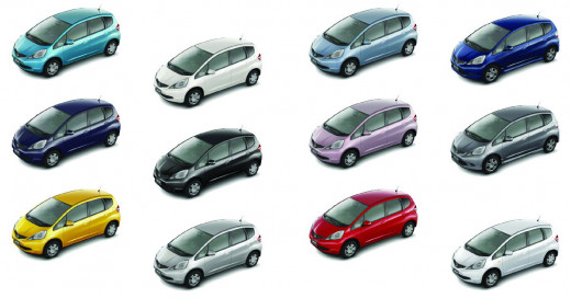 Honda Fit Colors
