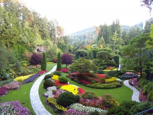 The Sunken Gardens at Victoria's Butchart Gardens.