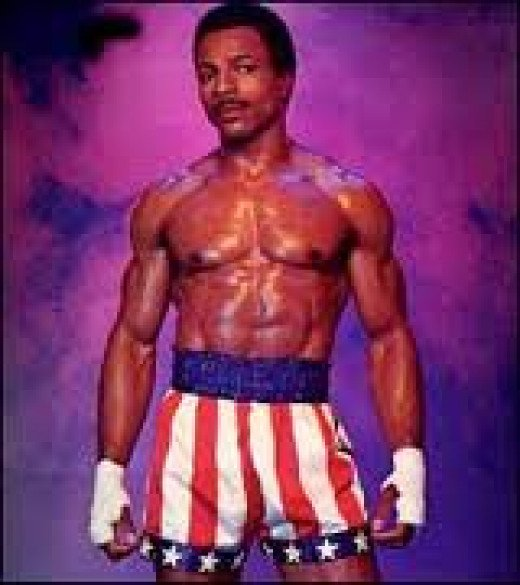 Carl Weathers played Apollo Creed in the first four Rocky movies. He was the heavyweight champion of the world fighting underdog Balboa.