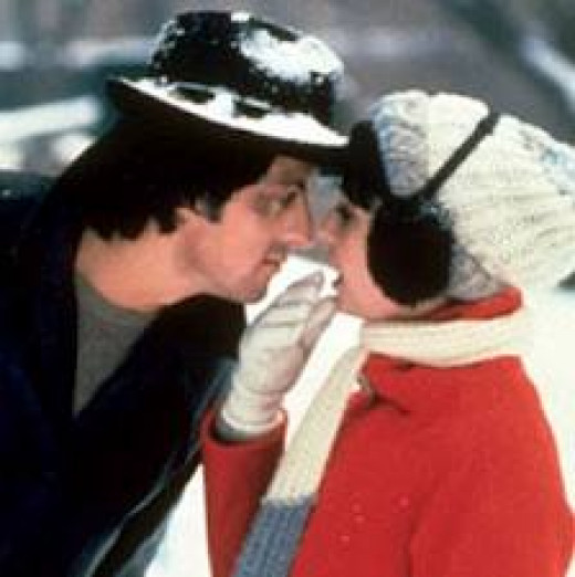 Rocky ends up getting married to Adrian played by Talia Shire. She is in the first five Rocky Films.