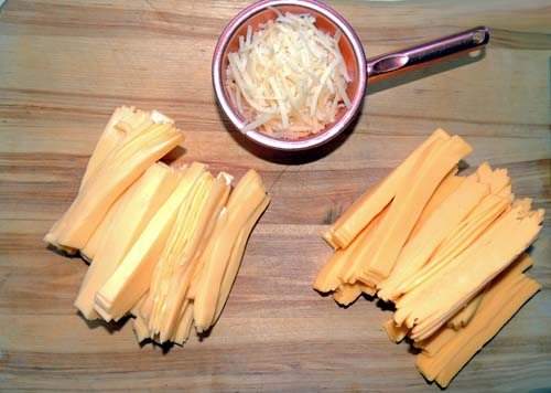 slice into manageable strips, and ready your Parmesan. Set all this aside for now