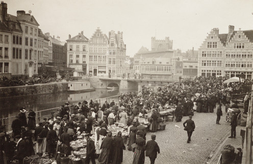 Graslei / Korenlei, Ghent, c.1912/1913