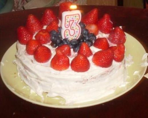 a 3rd birthday cake