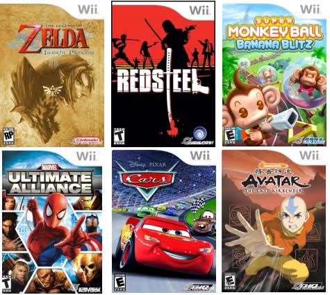 This selection is pretty much it for the Wii - they're still terrible games.