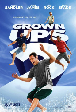 "Have you seen the new movie ""Grown Ups 2"" yet?"