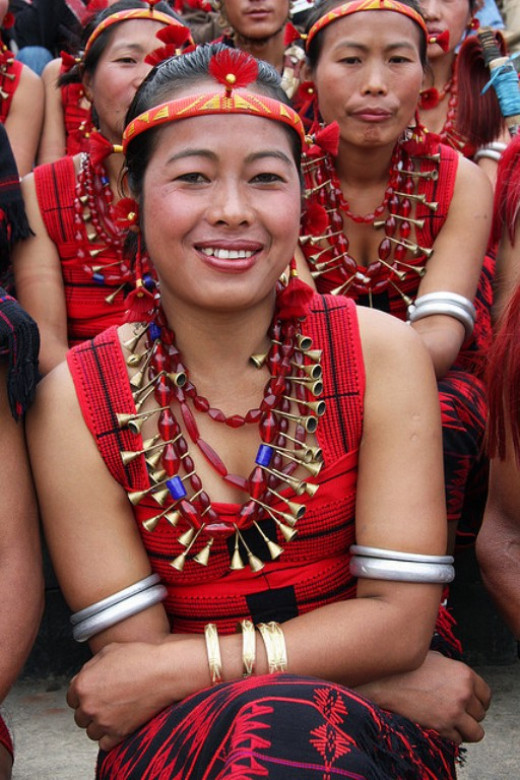 Nagamese ladies in traditional attires