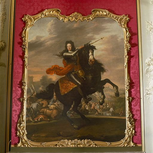 Stadtholder-King William III of Orange, at the Battle of the Boyne in Ireland, 1690.