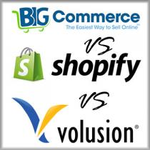 BigCommerce vs Shopify vs Volusion