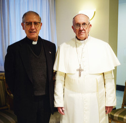 Aldolfo Nicolas and Pope Francis. They have taken vows to each other.
