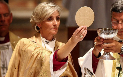 Many denominations of Christianity today have female priests and bishops