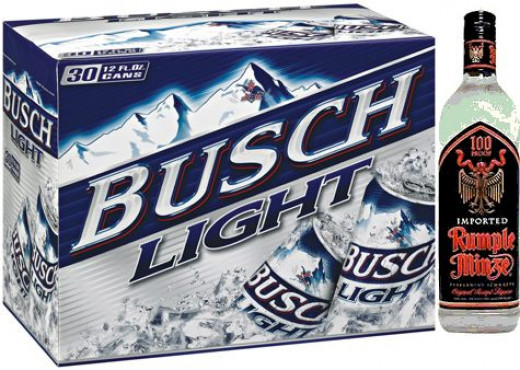 Small-town Michigan, Busch Light and Rumplemintz, replaced by Warcraft