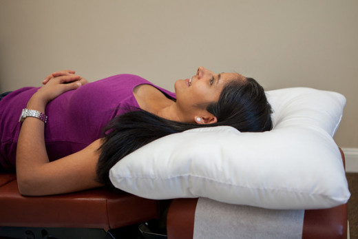 Sleeping specifically on your back with the arc4life traction pillow is very comfortable.