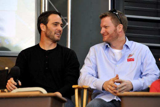 Earnhardt Jr. is NASCAR's most popular driver while Johnson is its most successful.