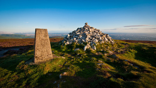 Cairn & Trig Pillar at top of Two Rock Mountain