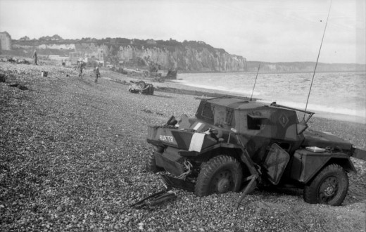 The beach at Dieppe looking west.