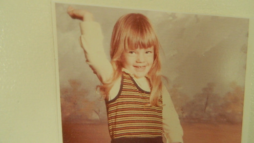 A treasured photo of my little Stephanie at age 3.