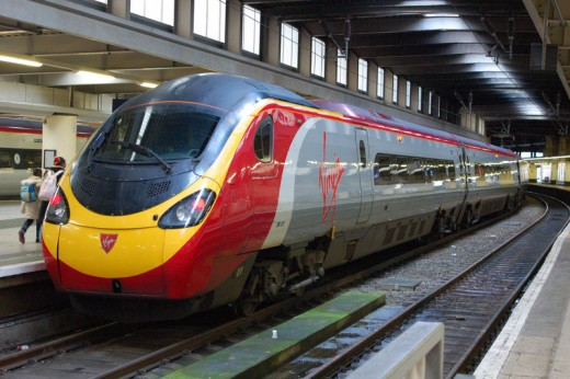Today - a Virgin train at London Euston, bound for Liverpool