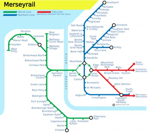 Merseyrail map