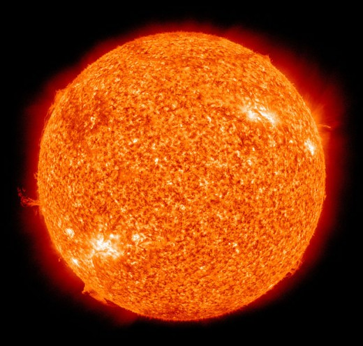 The Sun as captured by NASA