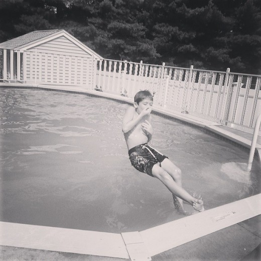 He wants to be the next Michael Phelps.