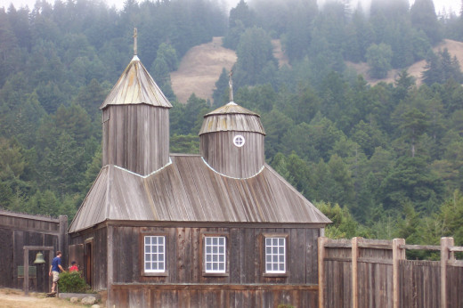 Reconstructed Chapel. Fort Ross State Historic Park.