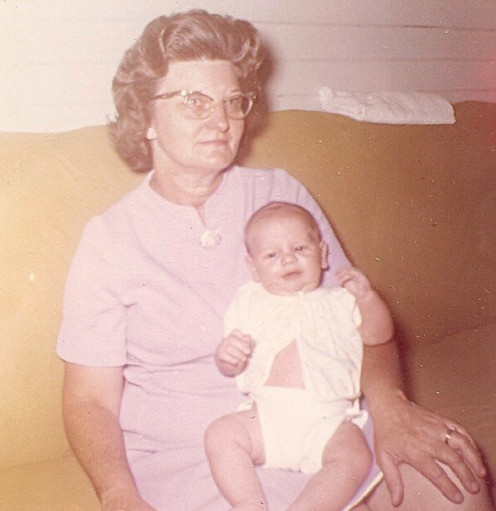 Me & My Grandmother (shortly before leaving and not seeing her for over 20 years)