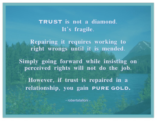 Trustworthiness is worth holding on to.