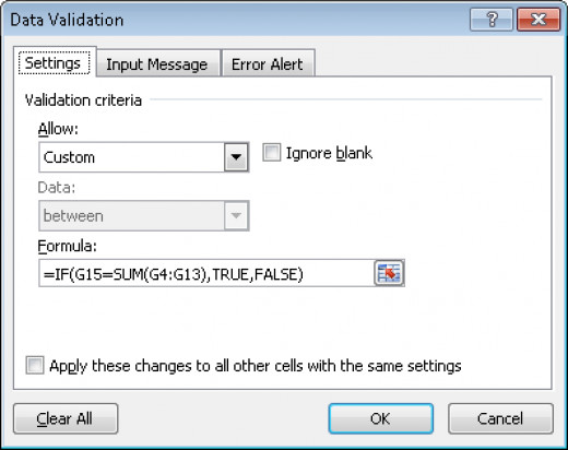 Using a formula to function as the data validation criteria in Excel 2007 and Excel 2010