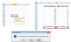 Data Validation in Excel 2007 and Excel 2010