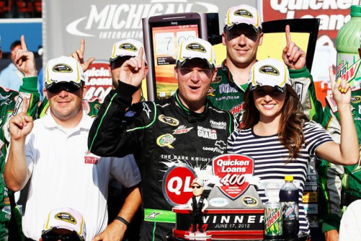 Dale Earnhardt Jr. won the 2012 spring race at Michigan and is a contender to win once again