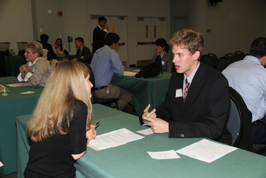 One-on-one interviews require you to maintain eye contact with the person interviewing you.
