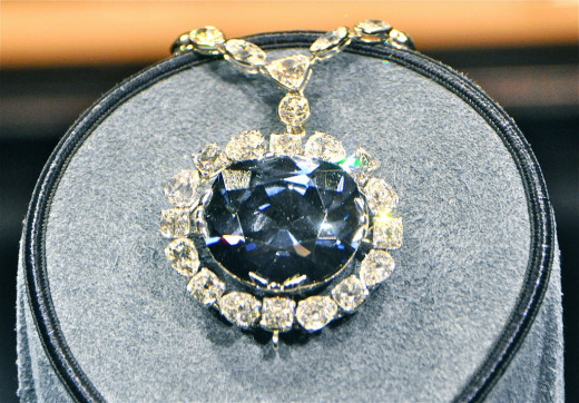 The Hope Diamond - Believed to have been discovered in India's Kollur Mine in the Guntur district of Andhra Pradesh (which at the time had been part of the Golconda kingdom), in the seventeenth century.  It is now residing in the Smithsonian.