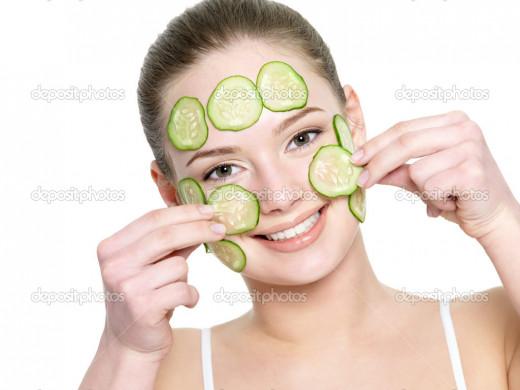 cucumber facial mask