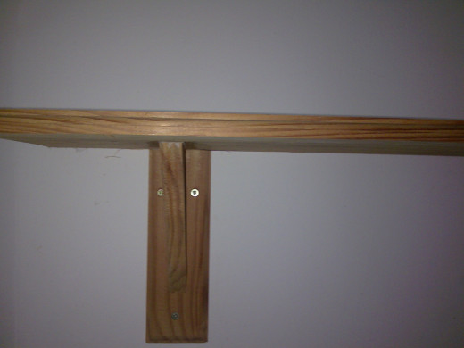 Shelf and bracket