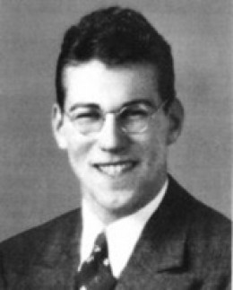 Ben Salomon, in his pre-war civilian garb, probably USC graduation schoolbook photo