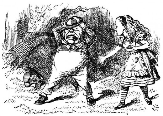 Alic Through the Looking Glass by Lewis Carrol, illustration by John Tenniel