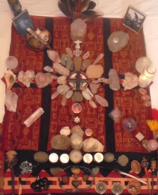 "An example of a shaman's ""mesa"""