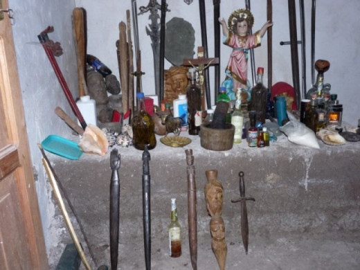 Some instruments which might be employed by a shaman in ritual
