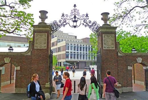 One of the many historic gates providing access to Harvard Yard
