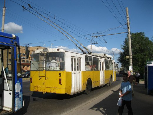 Electric Trolley in Veliky Novgorod, Russia
