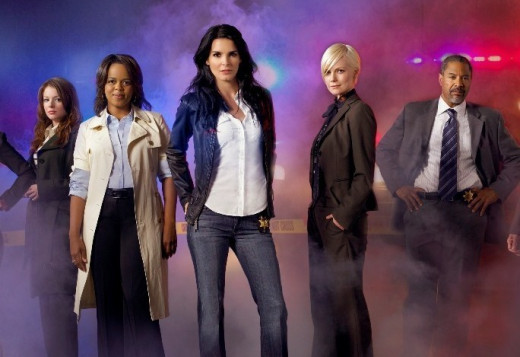 """Cast of """"The Women's Murder Club,"""" an ABC crime drama, with Angie Harmon (Rizzoli and Isles) as Lindsay Boxer."""