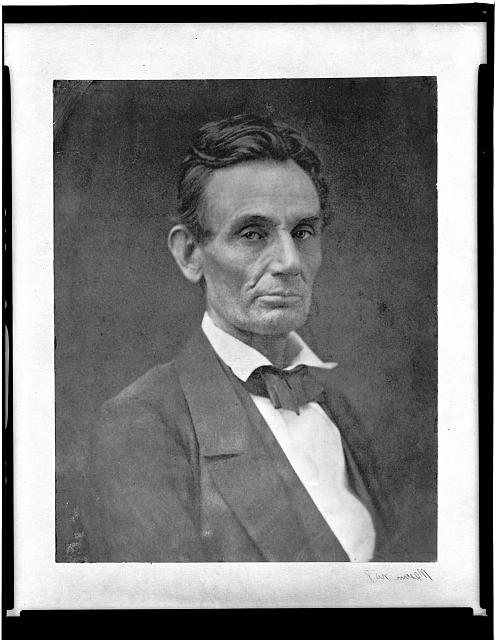 Samuel Montague Fassett photograph of Abraham Lincoln c. 1859.