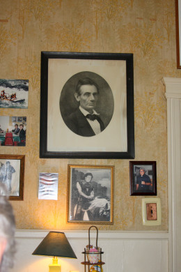 Portrait of Abraham Lincoln, Ivanhoe Cafe, Detroit
