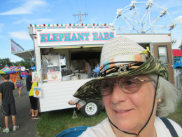 Getting in line for some of those delicious Elephant Ears at Ohio's Henry County Fair.